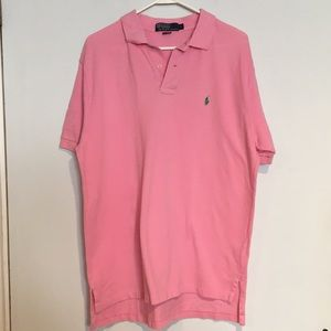 Polo by Ralph Lauren Shirts - Polo Men's Pink shirt with green polo pony SZ L
